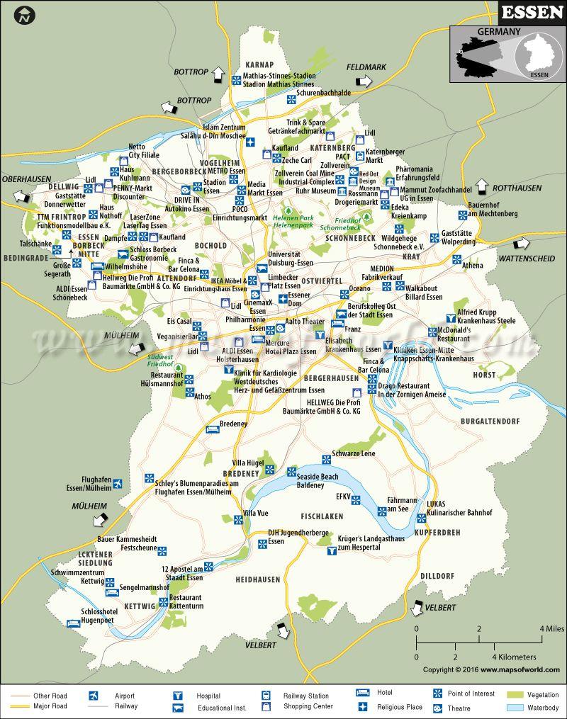 Map Of Germany Essen.Essen Map Maps Map Cities In Germany Essen