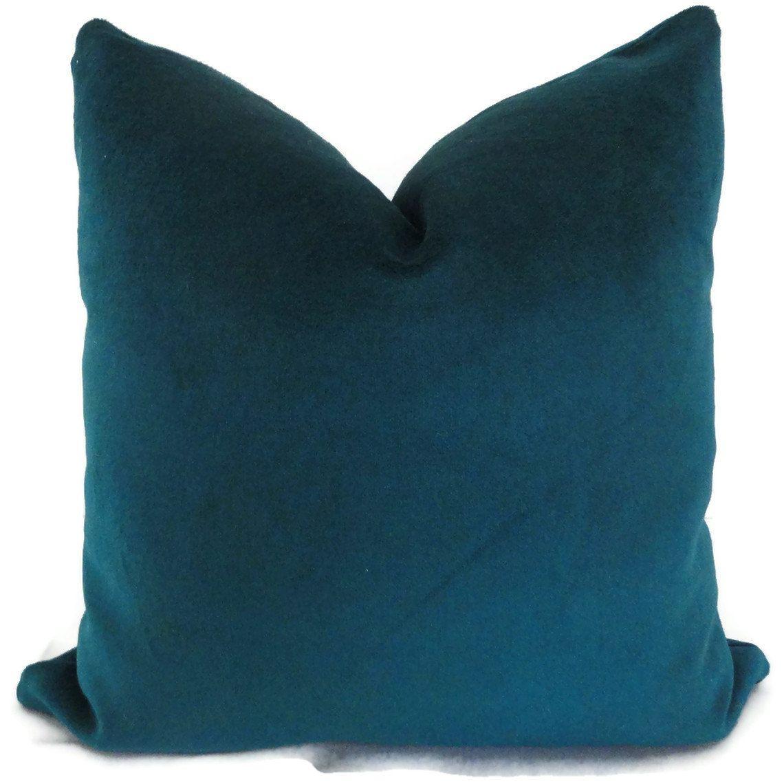 Peacock Blue Decorative Lumbar Pillow