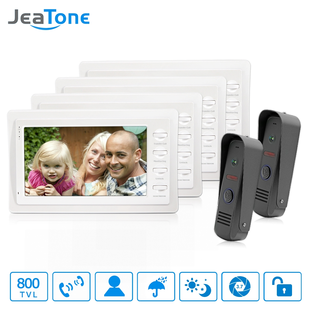 """303.60$  Buy here - http://aliq3q.worldwells.pw/go.php?t=32781578578 - """"JeaTone Color 7"""""""" TFT LCD Display 4-line Video Door Phone Doorbell Intercom System With High Definition IR Night Vision Camera"""" 303.60$"""