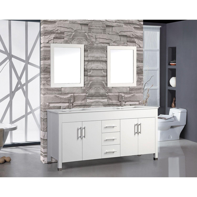 Double sink white bathroom vanities mtd vanities monaco inch double sink bathroom vanity set with