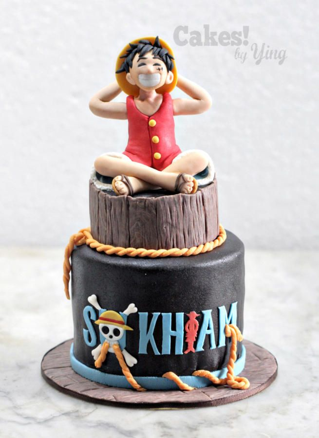 One Piece Monkey D Luffy Cake by Cakes by Ying Recepty na