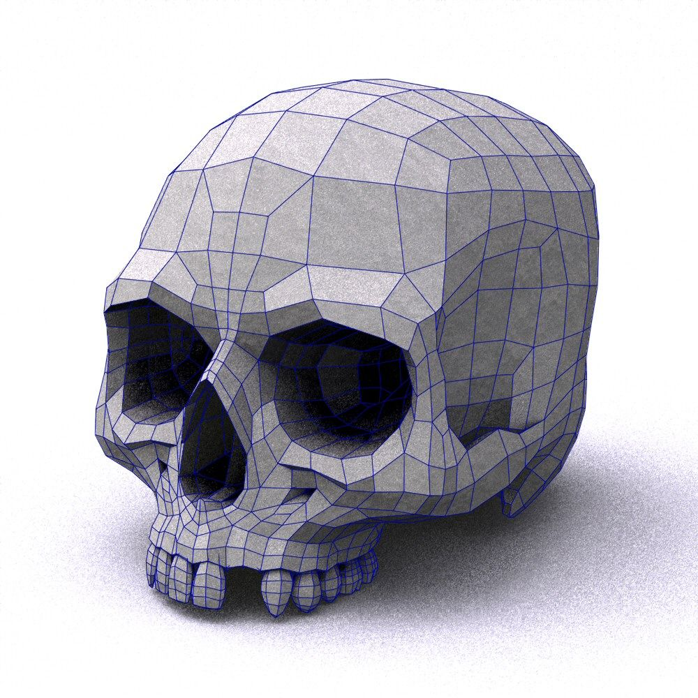 skull low poly Buscar con Google Skull model, Low poly