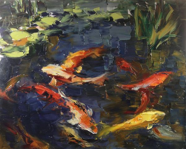 Famous koi painting google search koi fish koi pond for Koi art nature