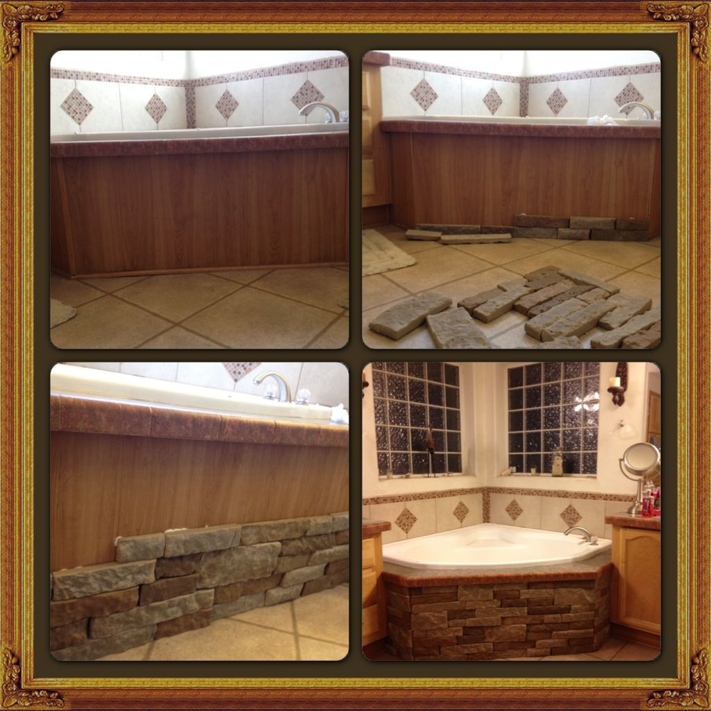 Air Stone To Cover The Fake Wood Veneer Facing Of My Garden Tub I