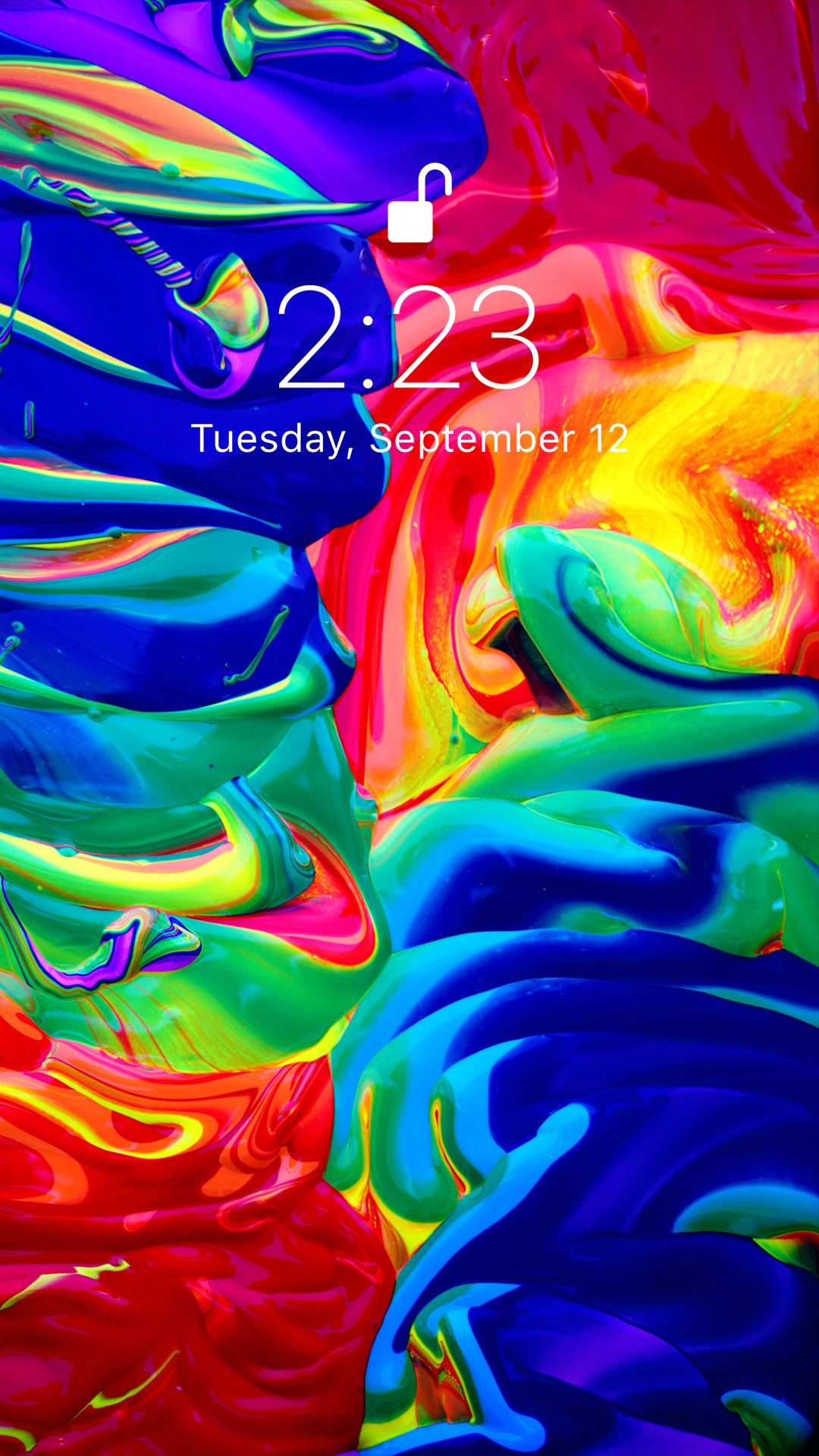 Colorful wallpaper for your iPhone XS from Vibe app