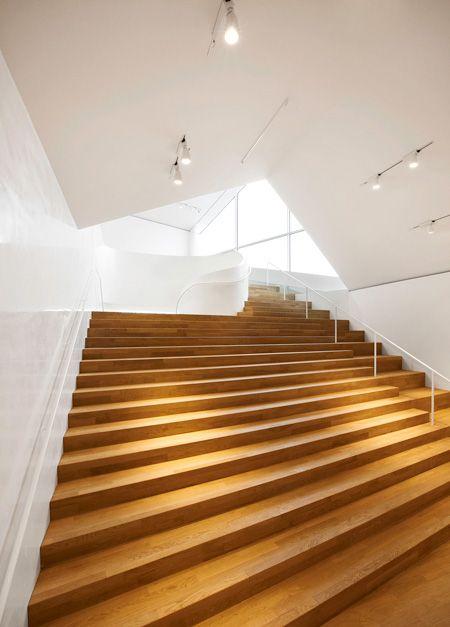 Interior Shot Of The Vitrahaus By Swiss Architects Herzog De Meuron Interior Architecture Design Interior Stairs Interior Architecture