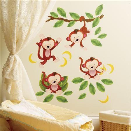 WALLIES Baby Monkeys Wall Art | Masons favorite things | Pinterest ...
