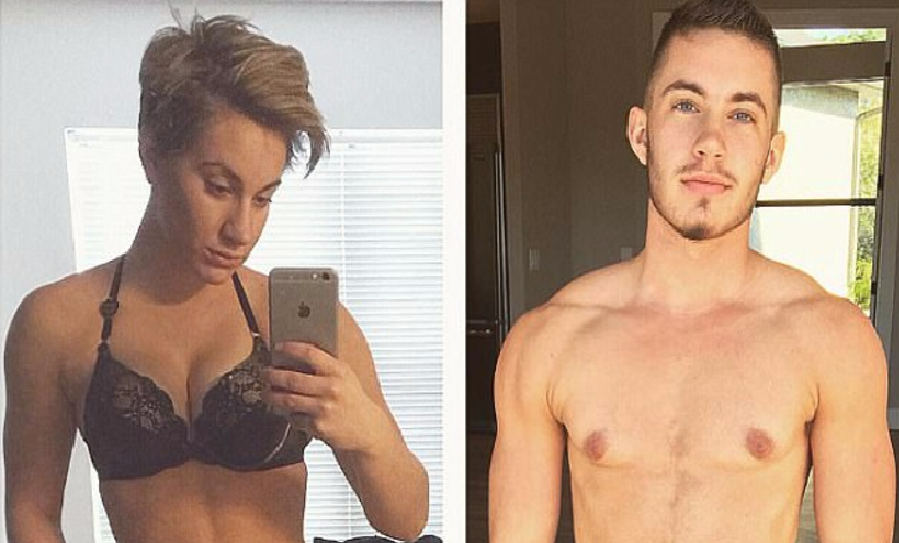 A trans man has taken to Instagram to share inspirational before and after images in a bid to prove that not everyone shows outward 'signs' before their transition. Musician Jaimie Wilson, who transitioned from a woman to a man, regularly posts photos of his journey to track his progress.