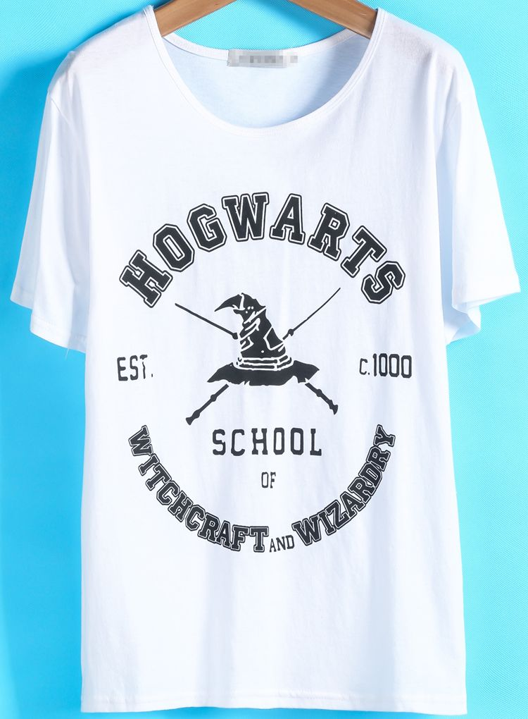 Cheap tee online at romwe.com .Summer tshirt ,funny casual print ...