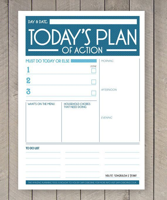 printable planner daily to do list family organiser daily planner