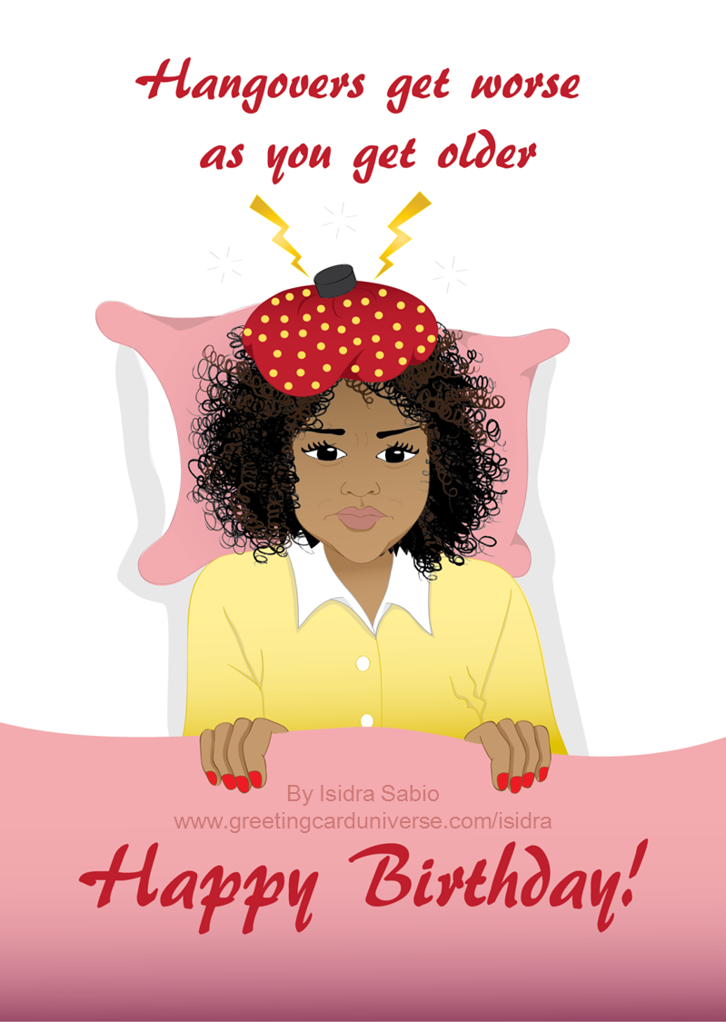 Humorous Birthday Card for women. This funny birthday card