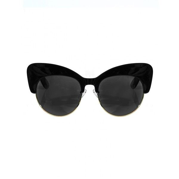 Black Cat Eye Sunglasses - Statement Sunglasses - (€14) ❤ liked on Polyvore featuring accessories, eyewear, sunglasses, glasses, sunnies, black lens sunglasses, cateye sunglasses, cat eye glasses, cat-eye glasses and cat eye sunglasses