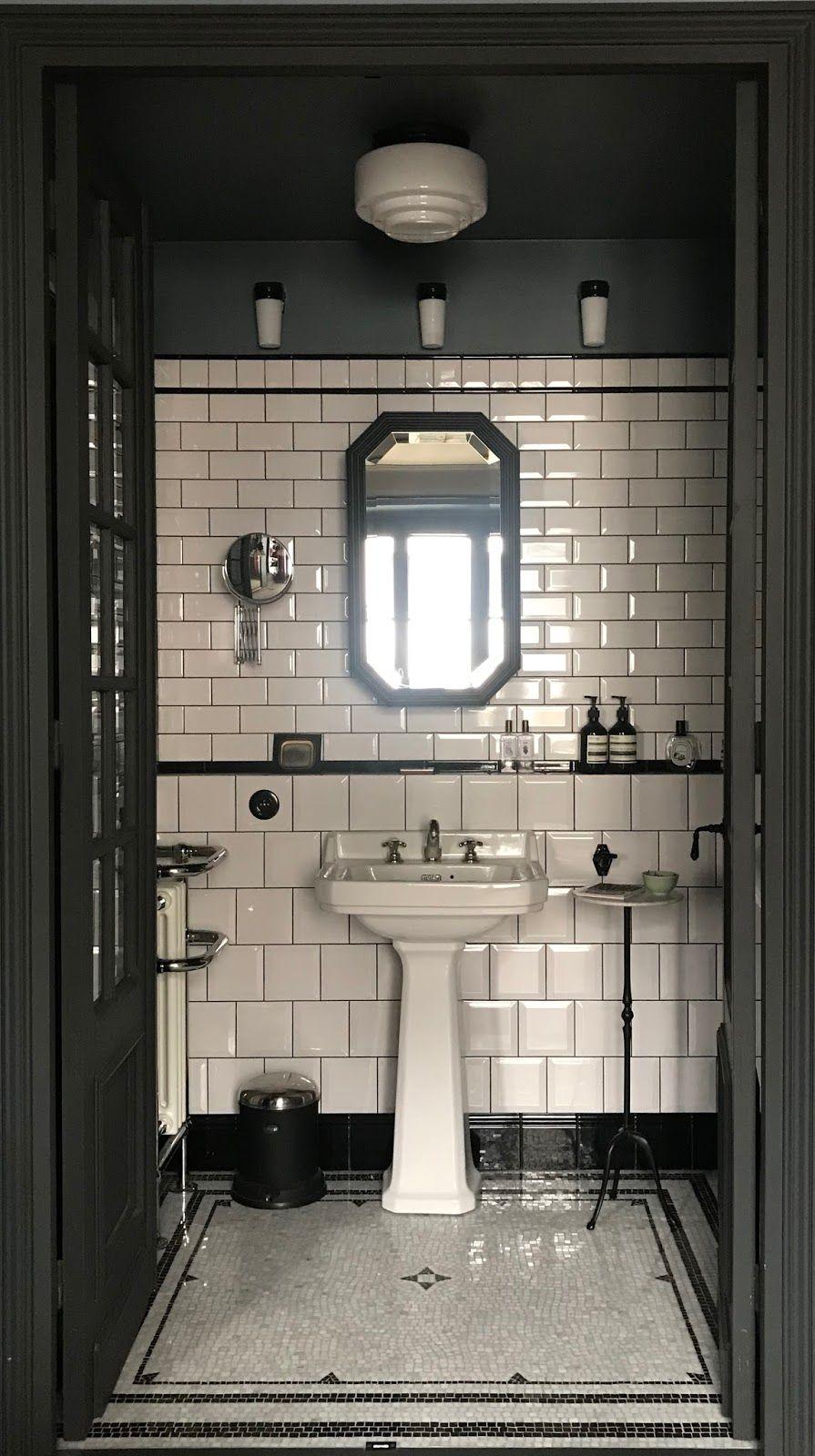 Plancher d\'entrée en mosaïque | Salle de bain art deco ...