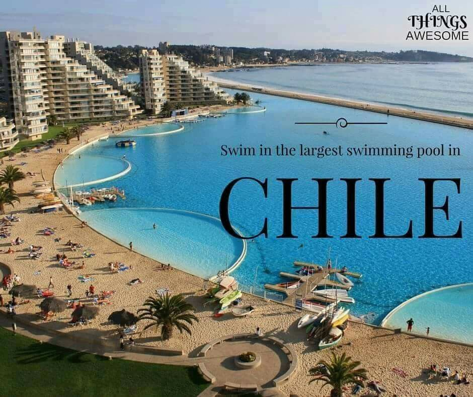 Largest Pool In Chile >> Largest Pool Chile Bucket List Challenge Big Pools Beach Pool