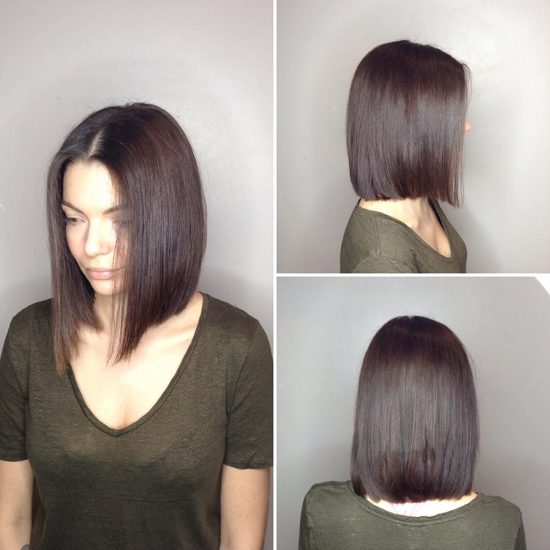 long blunt bob with center