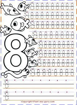 Free Printables Kindergarten Number 8 Tracing Worksheetstracing Numbers 1 20 For Kidspreschool Worksheets Coloring Pagestracing