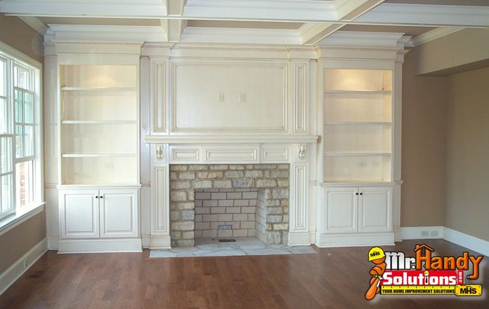 Mr Handy Solutions Handyman Services Remodeling Houses Pavers Lakeland Fl Fireplace Built Ins Built In Bookcase Home