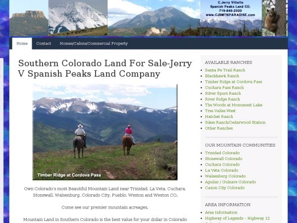 Southern Colorado Mountain Real Estate for Sale by Jerry V Spanish Peaks Land Company