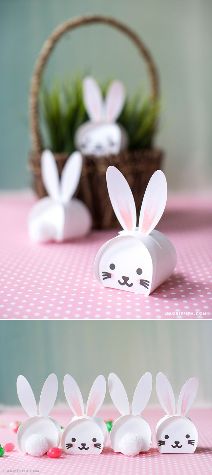 Printable easter bunny treat boxes easter bunny bunny and easter easter bunny treatboxes svg template for your cricut at liagriffith negle Choice Image