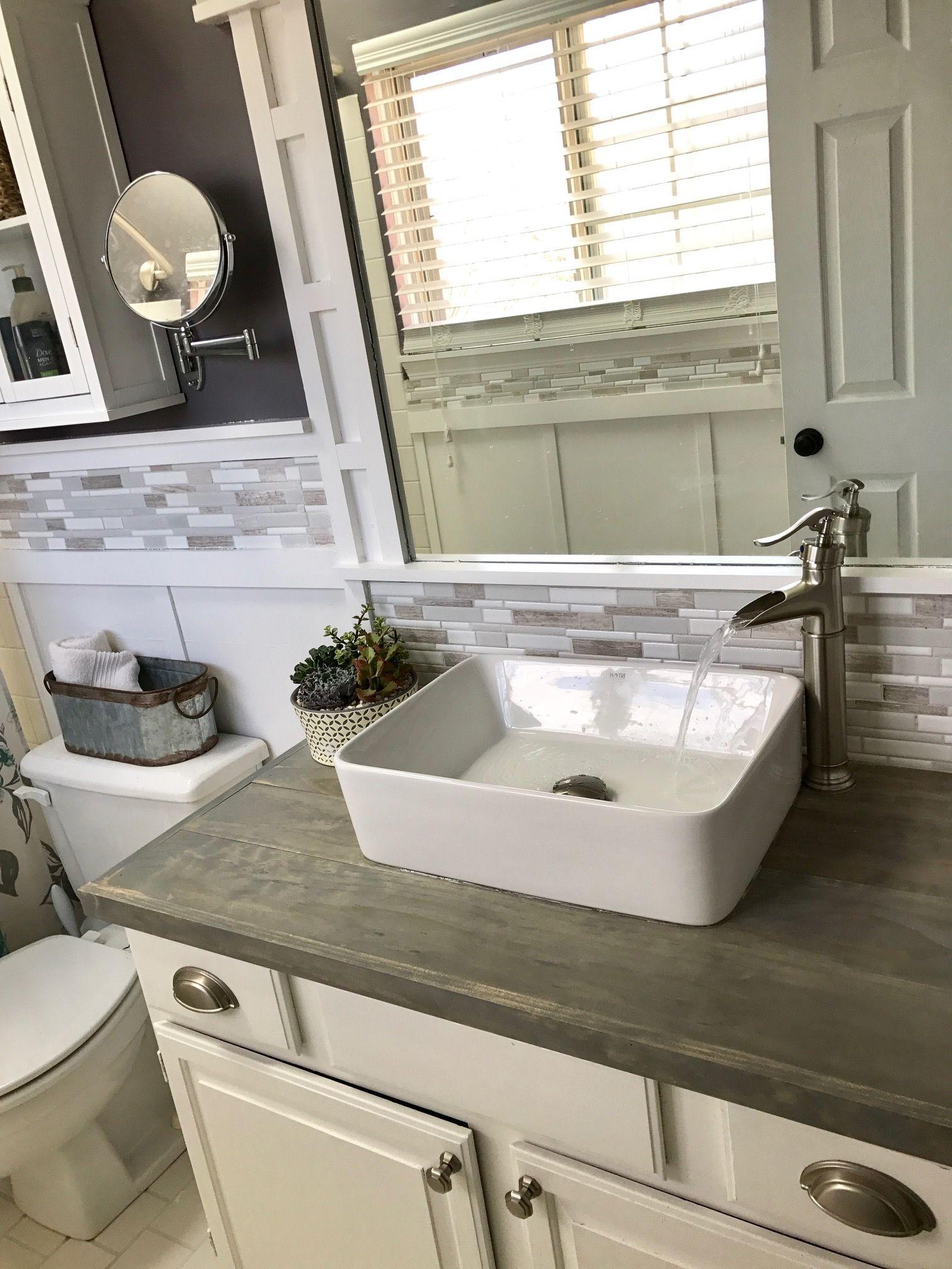 Brandnewell Designs: DIY Bathroom Vanity , A Builders Grade Upgrade