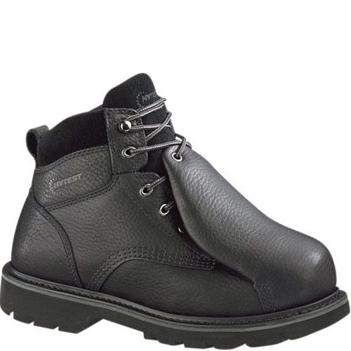 1c0626bbf513e 13370 Hytest Men s Leather Metguard Safety Boots - Black