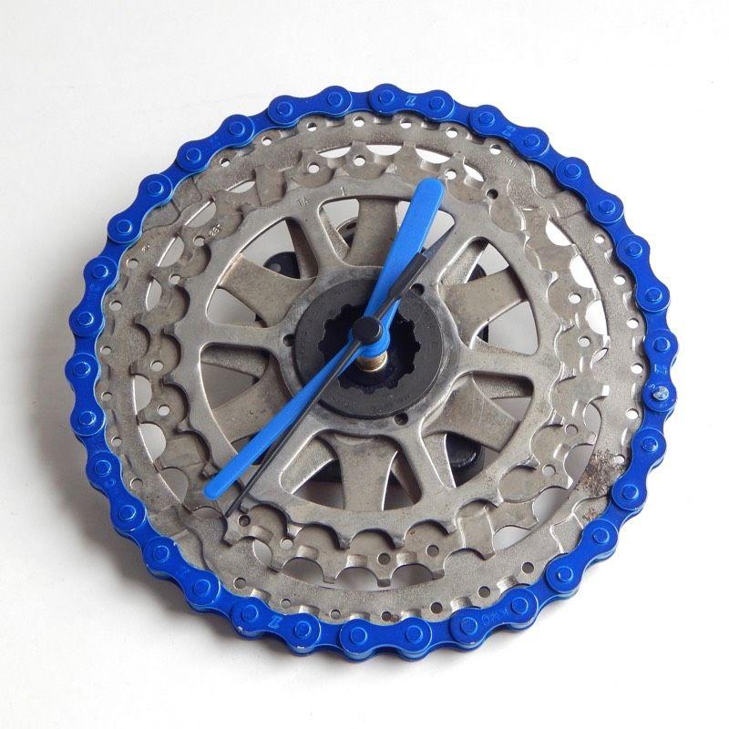 recycled bike clock bike gear clock bicycle clock