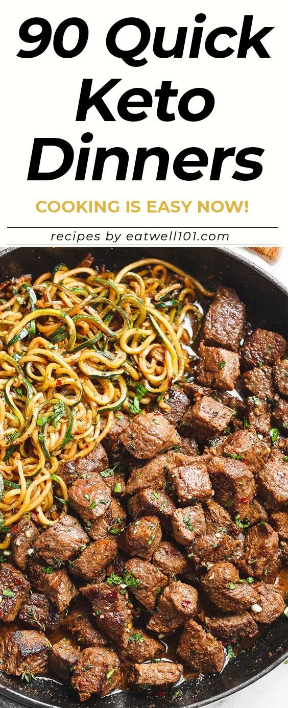 90 Quick & Easy Keto Dinners