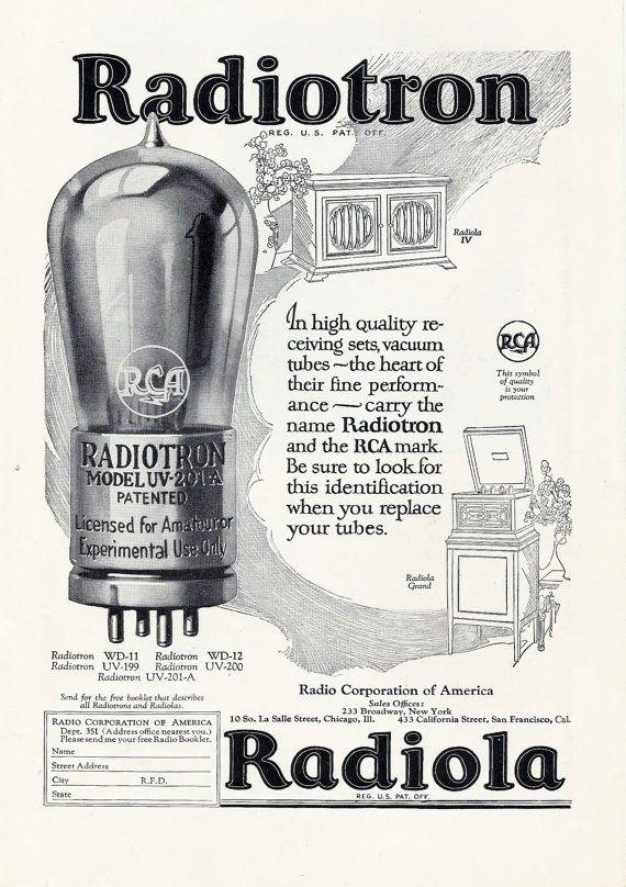 1930's+Radiola+Ad+++Radiotron+Vintage+paper+ephemera+Ad+by+Inkart,+$3.00