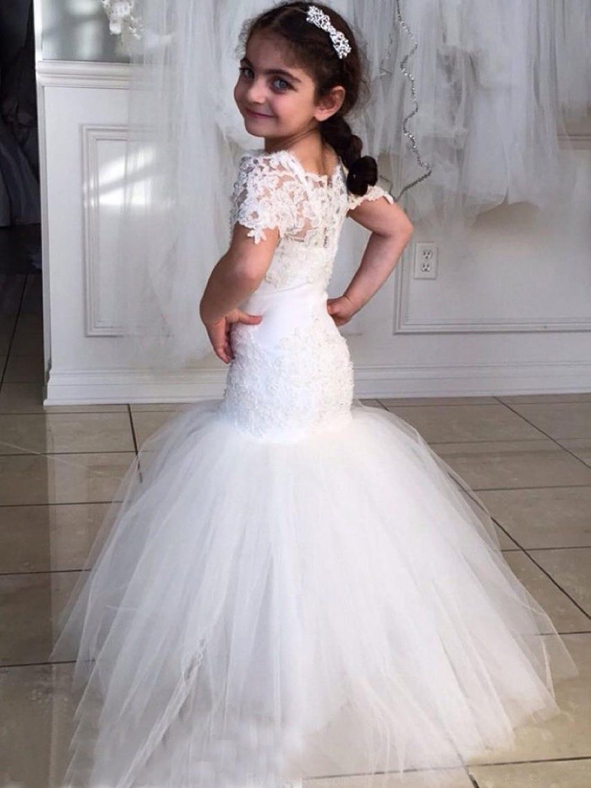 408546c6e1b White Flower Girl Dress  WhiteFlowerGirlDress