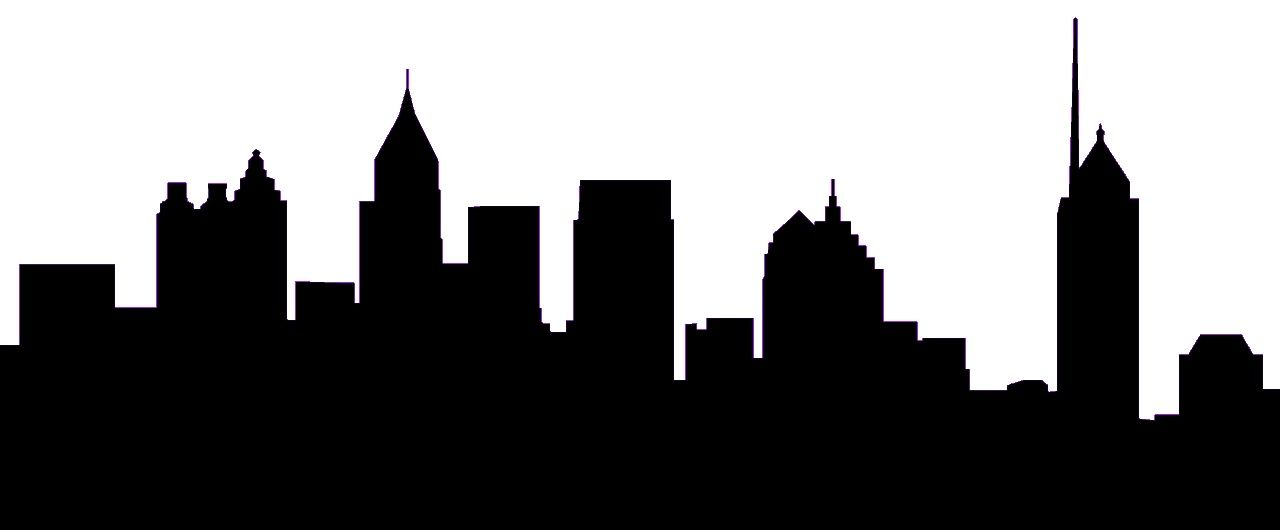 atlanta skyline silhouette clip art home projects pinterest rh pinterest com city skyline clip art free city skyline clipart black and white