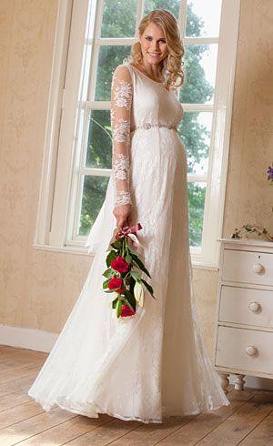 ad2bf301b Lindos vestidos de novias para embarazadas