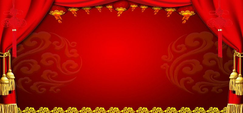 Chinese Knot Wedding Festive Red Poster Background | The Big