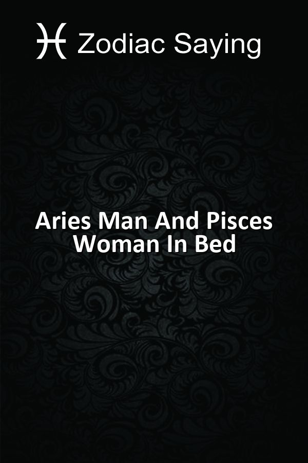 Aries man and aries woman sexually