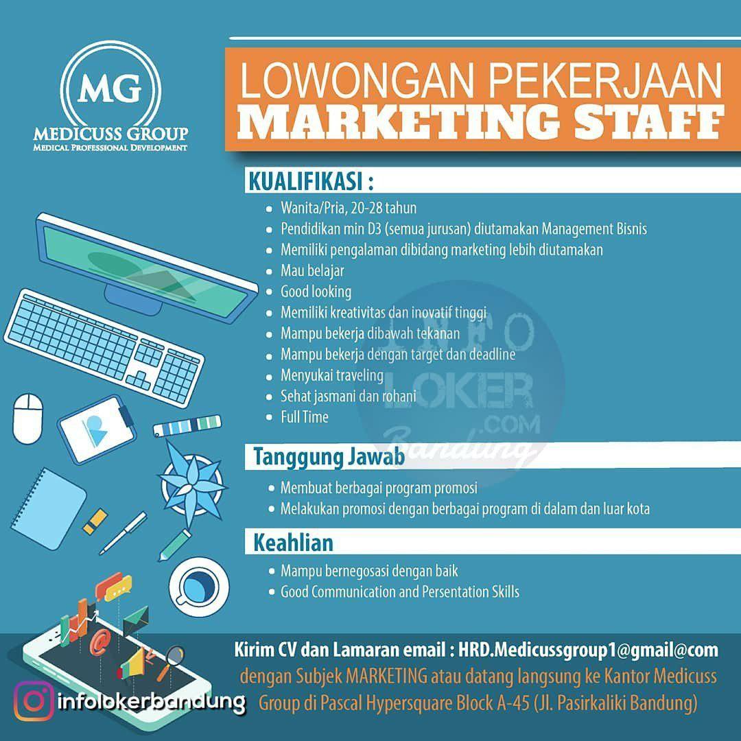 Lowongan Kerja Medicuss Group Bandung Desember 2018 Dengan Gambar