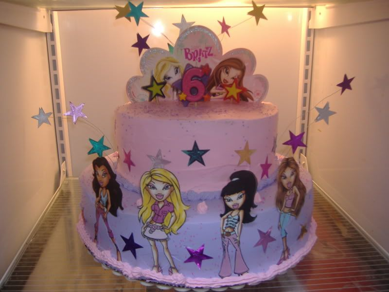Amazing Bratz Cake Bratz Birthday Cake Photo Bratzcake Cool Personalised Birthday Cards Akebfashionlily Jamesorg