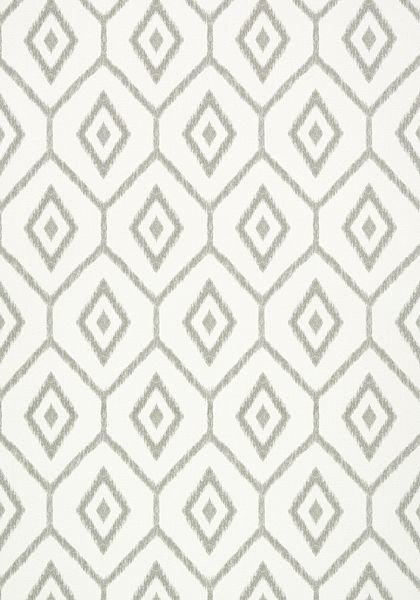 Bari Ikat Wallpaper In Grey From The Caravan Collection Thibaut