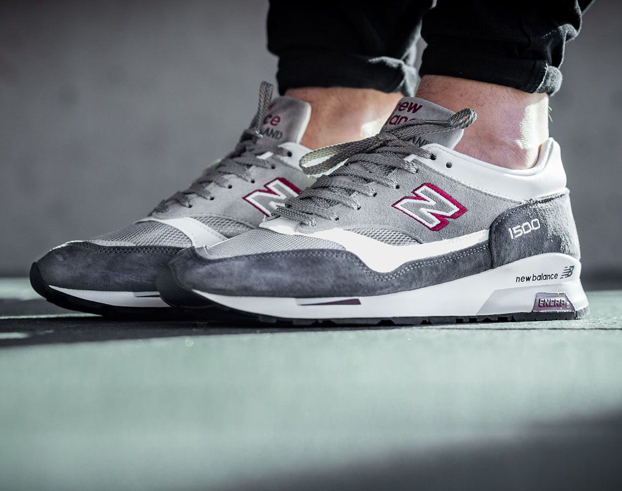 New Balance 1500 Made In England - Grey / Red | รองเท้า