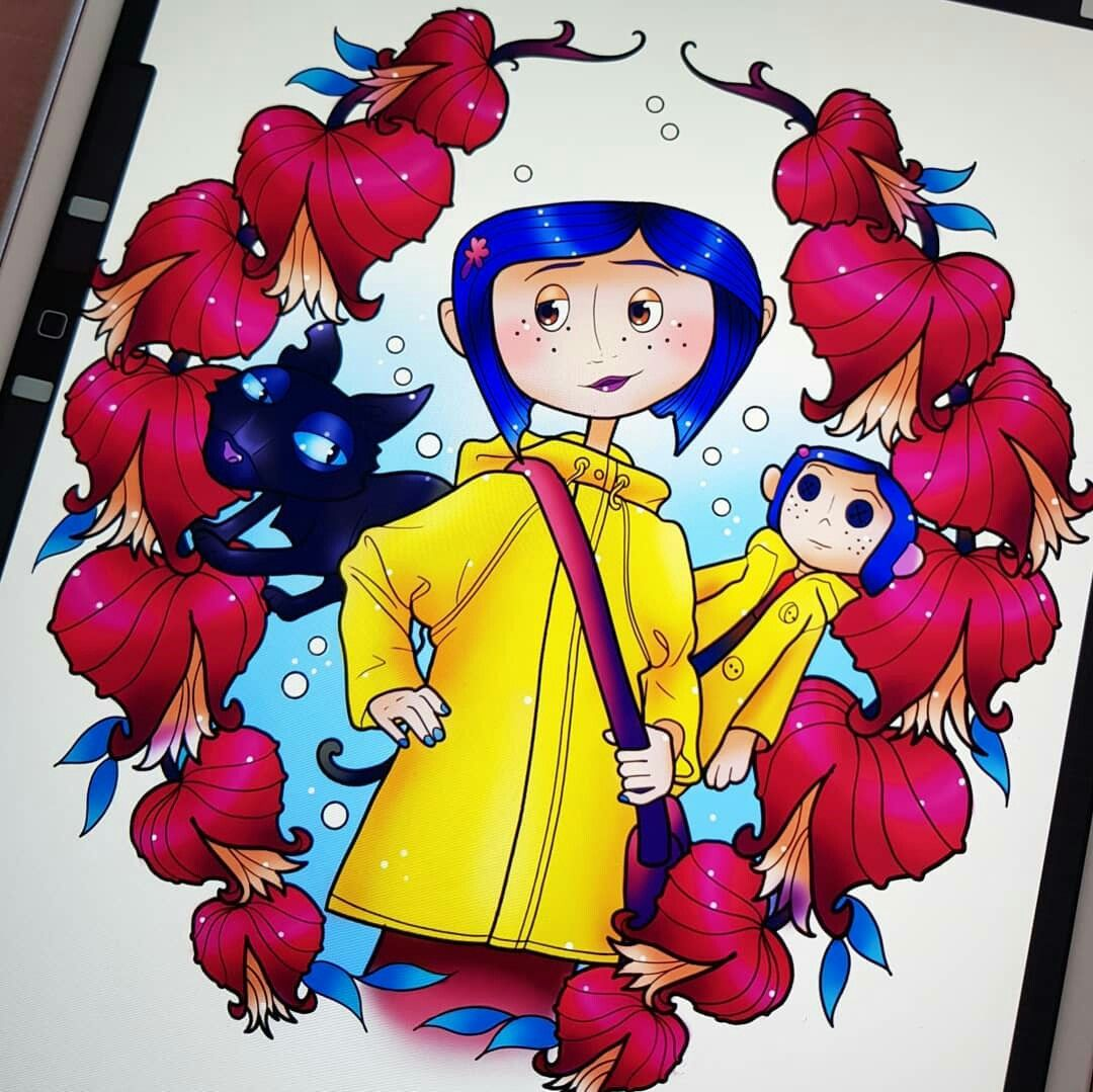 Pin By Ashley Dolliver On Iiiinky Coraline Drawing Coraline Art Coraline Aesthetic