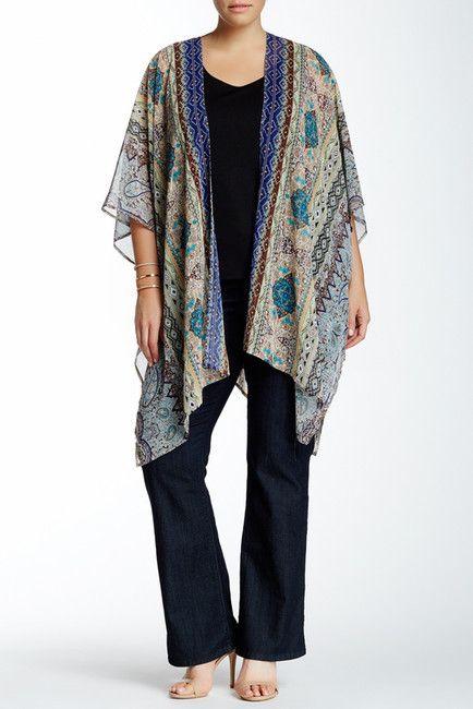 Plus Size Sheer Kimono Cardigan | Plus Size Fashion | Pinterest ...