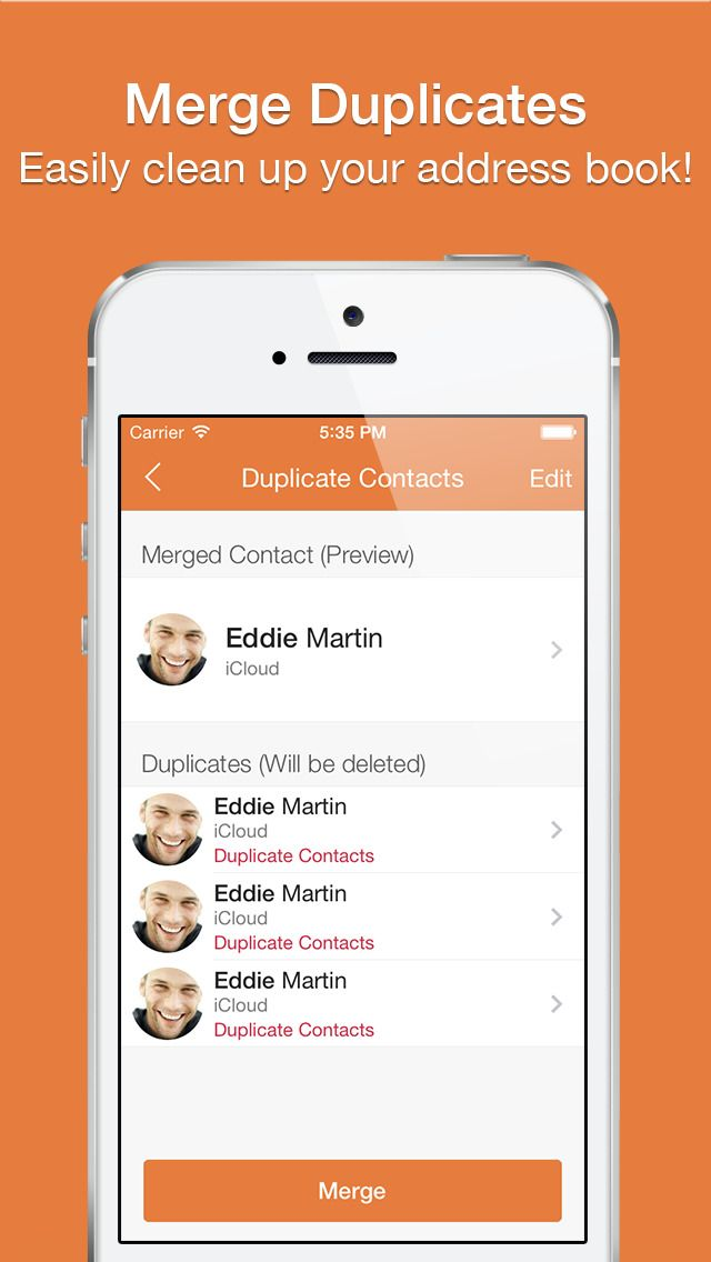 iPhone App Cleaner Pro Remove Duplicate Contacts for