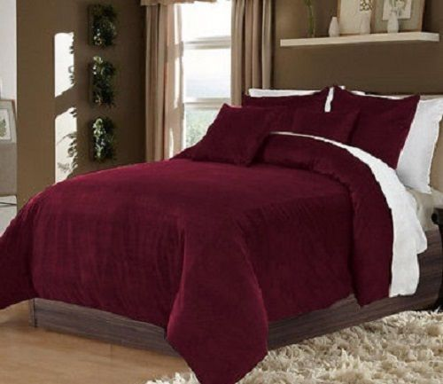 Hotel Collection Bedding 100 Cotton Velvet Burgundy Full Queen