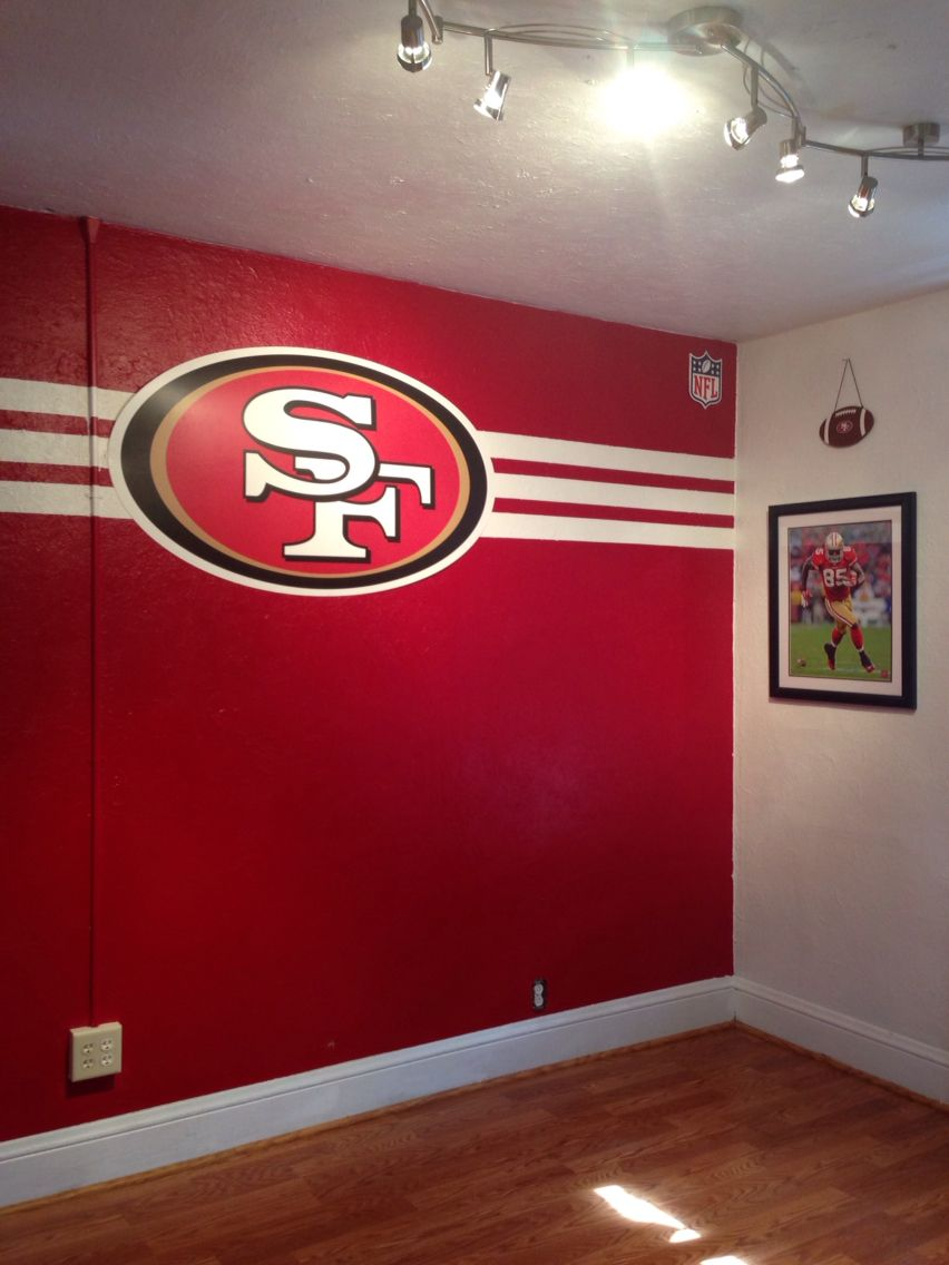 Pin By Arvie Cabrera On 49ers 49ers Room Football Bedroom Man Cave