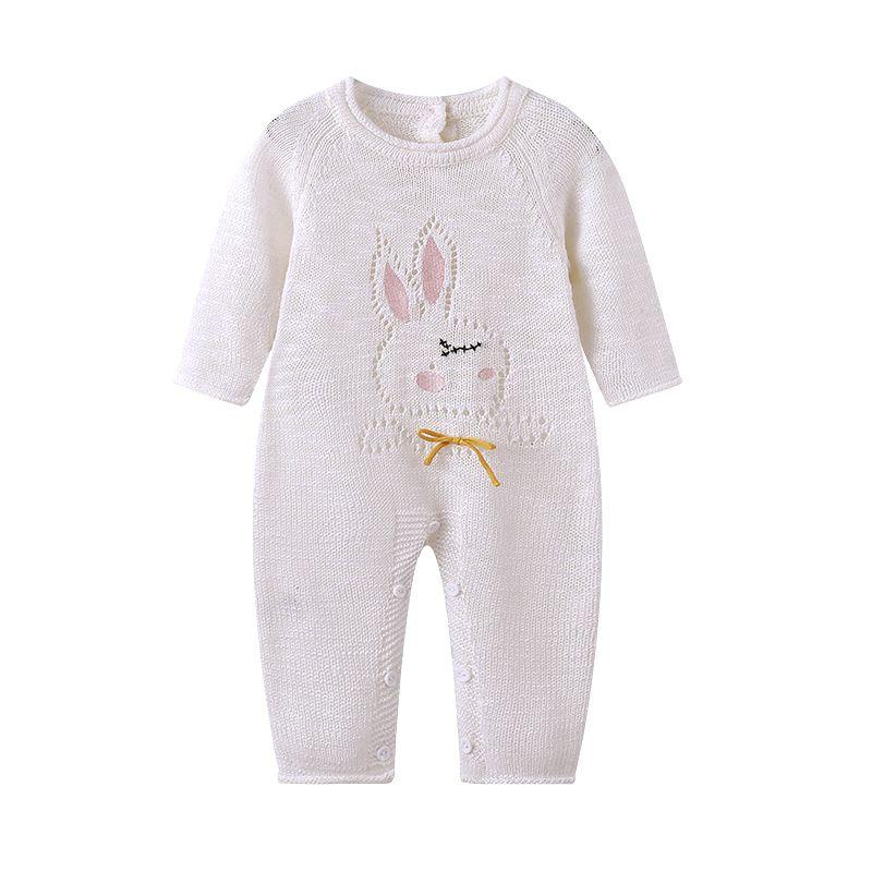 828d8102d Auro Mesa infantil Newborn Baby hollow sweater knit Romper Sweet ...