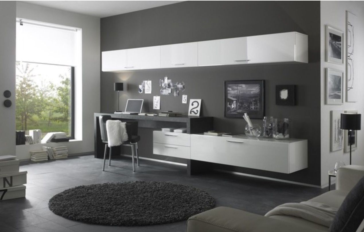 Tv Stand With Work Station Furniture In 2019 Modern