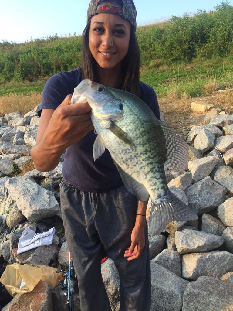 Dest1ny on fish crappie fishing girls