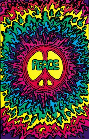 Psychedelic Peace Peace, Hippie art and Psychedelic