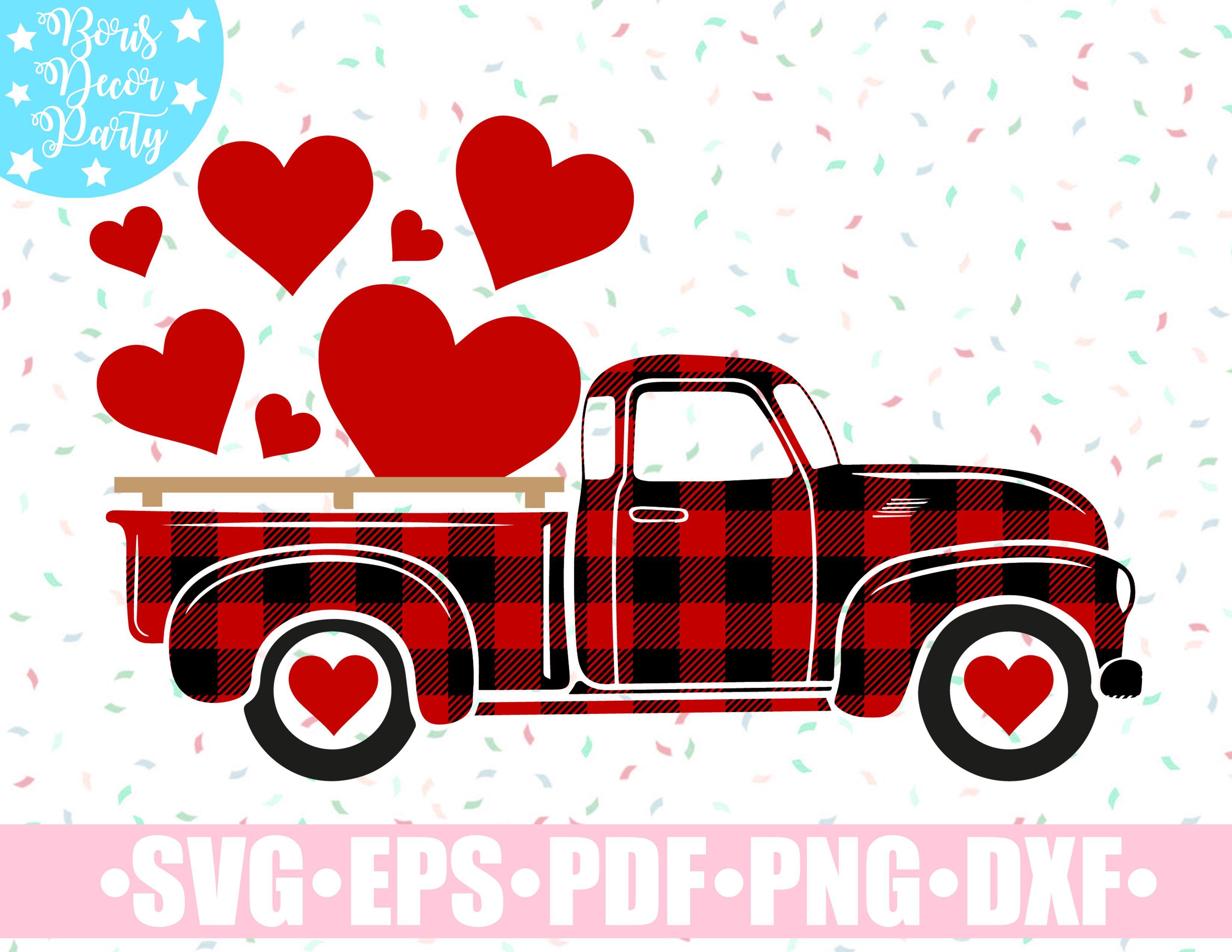 Valentines svg Cutting File svg Valentines Truck svg,Valentine/'s Day png eps Conversation Hearts Stickers,Valentines Vintage Truck