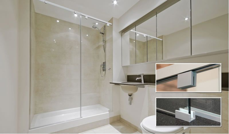 Cr Laurences Cabo Soft Slide Frameless Shower Door Systems With