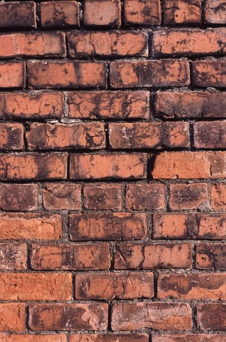 Unusual Background With Close Up View Of Brick Wall Facing
