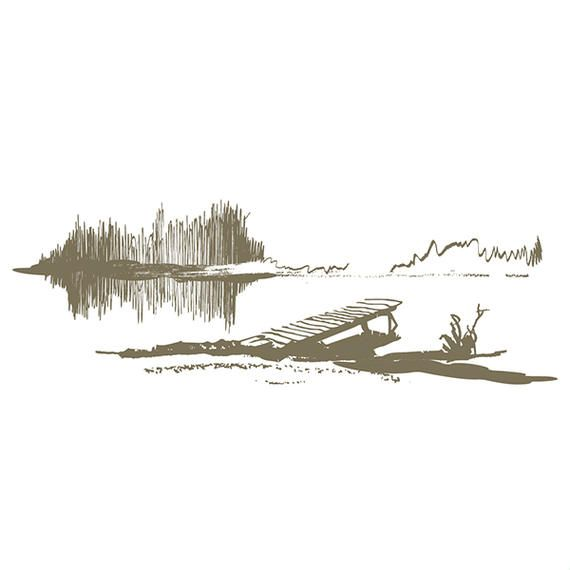 Abstract Lake & Dock Landscape Sketch #AD , #SPONSORED, #ad, #Lake, #Sketch, #Landscape, #Abstract